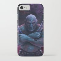 thanos iPhone & iPod Cases featuring Drax and Thanos by Jaime Gervais