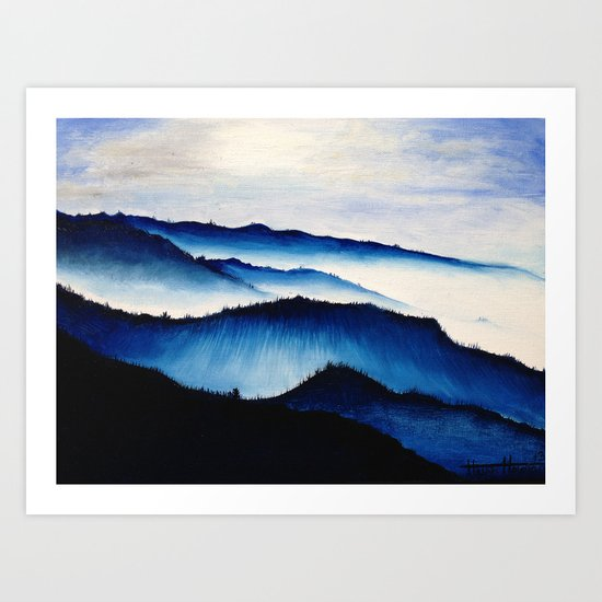 Mountain Landscape. Art Print