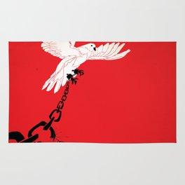 "Glue Network Print Series ""Justice & Freedom"" Rug"