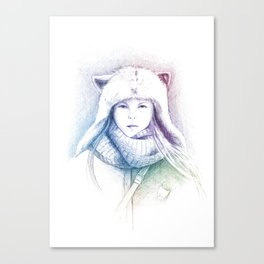 Speechless Collection - Cat hat Canvas Print