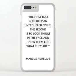 Stoic Philosophy Quote - Untroubled Spirit Clear iPhone Case