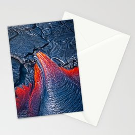 Kilauea Volcano Lava Flow. 3 Stationery Cards