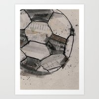 soccer Art Prints featuring soccer by hello kaja