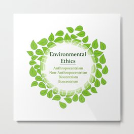 The 4 Environmental Ethics Metal Print