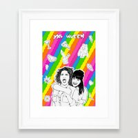 broad city Framed Art Prints featuring broad city by naidl