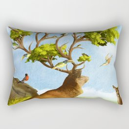 The Forest of Songs Rectangular Pillow