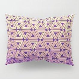 Florida Sunset Geometric Pillow Sham