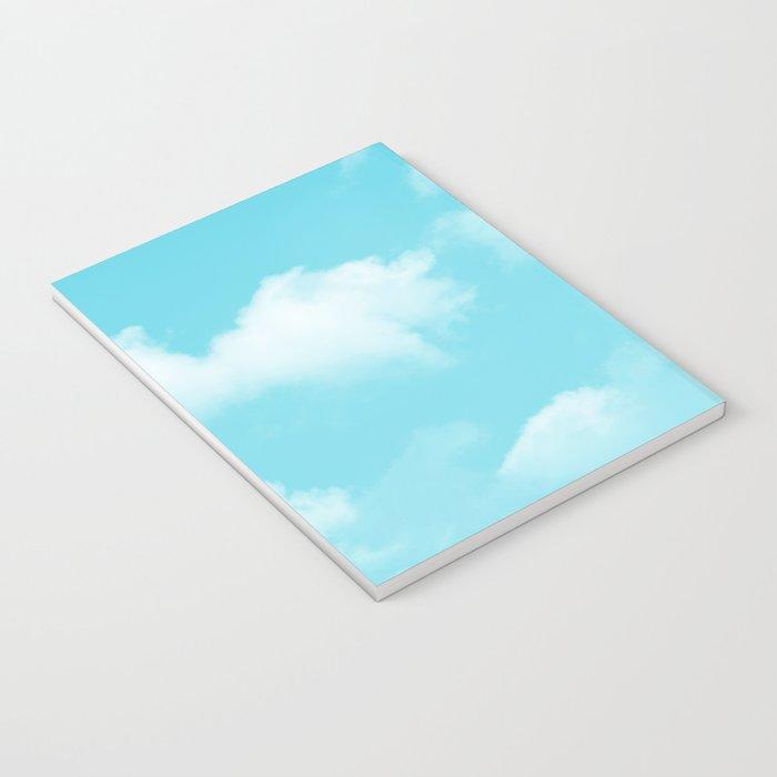 Aqua Blue Clouds Notebook