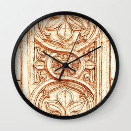 carved stonework Wall Clock