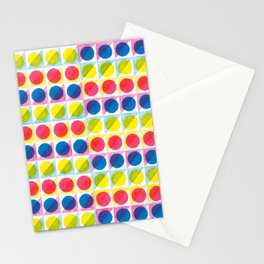 Primary Dots Stationery Cards
