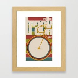 Save The Track Bikes! 02 Framed Art Print