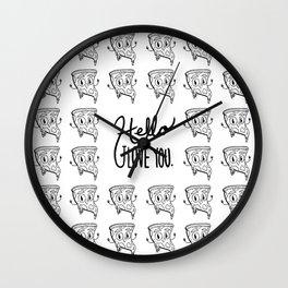 Hello, I love you pizza Wall Clock