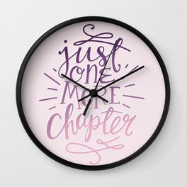 Book Nerd One More Chapter Wall Clock
