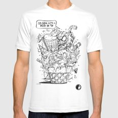 Spidey on an Ice-Crem SMALL White Mens Fitted Tee