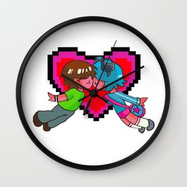 Scott Pilgrim + Ramona Flowers 8-bit Heart Wall Clock