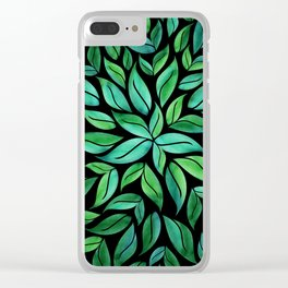 Night Leaves Clear iPhone Case