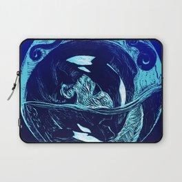 Harmony within the Orca Yin&Yang Laptop Sleeve