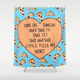 A Pizza My Heart Shower Curtain