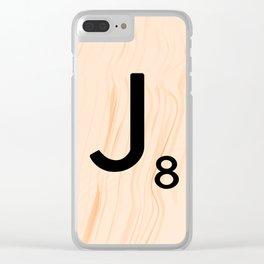 Scrabble Letter J - Large Scrabble Tiles Clear iPhone Case