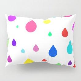 colorful raindrops Pillow Sham
