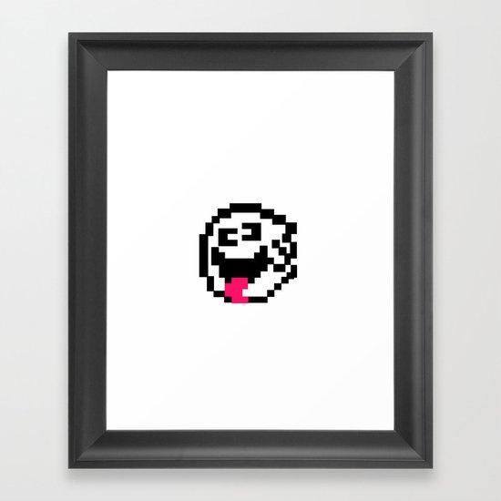 Super Mario World Ghost Framed Art Print