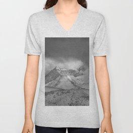 """""""Wild mountains"""". BW Unisex V-Neck"""