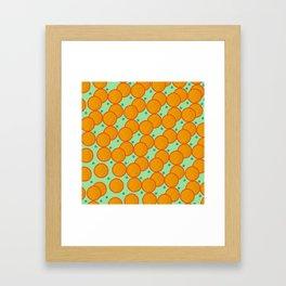 Orange Circle Framed Art Print