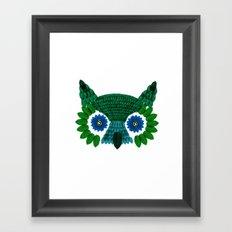 So Many Leaves = 1 Owl (Green) Framed Art Print
