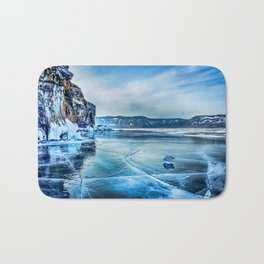Lake Baikal. March Bath Mat