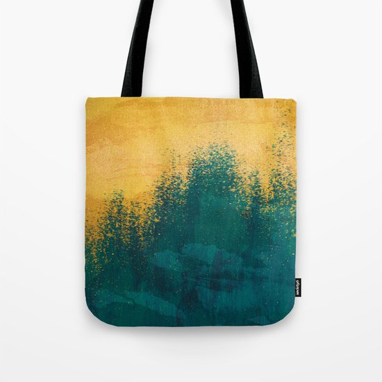 Gold Rush Peacock Tote Bag