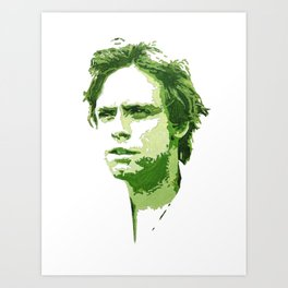 Luke Skywalker (Green) Art Print