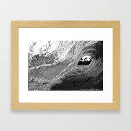 black and white.. Framed Art Print