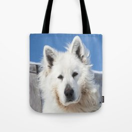 White Husky Tote Bag
