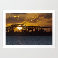 Sunset in Lake Charles, Louisiana Art Print