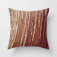 tree rings Throw Pillows featuring Rings by Kathy Dewar