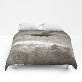 Stealth And Surprise Of The Night Owl Comforters