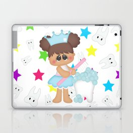 Tooth Fairy Brushing Teeth Laptop & iPad Skin