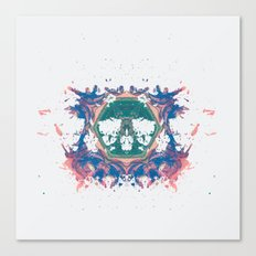 Inkdala VII - Rainbow Rorschach Art Canvas Print