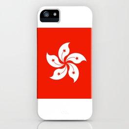 Flag of hong kong iPhone Case