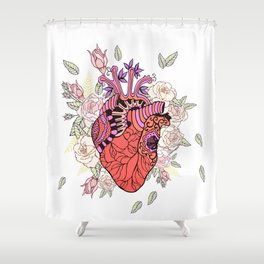 Anatomy of the heart Shower Curtain