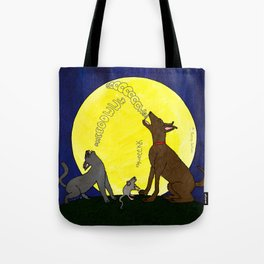 Singing to the Moon Tote Bag