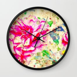 Floral theme [spring bollywood) Wall Clock