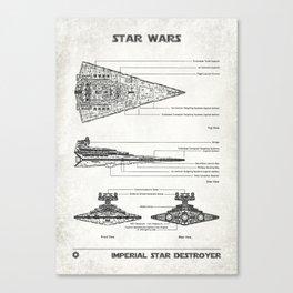 Star Destroyer Old Canvas Canvas Print