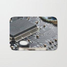 Elements of electronic circuit board Bath Mat