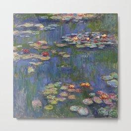 "Claude Monet ""Water lilies"" (12) Metal Print"