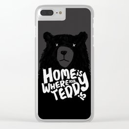 Teddy Home Clear iPhone Case