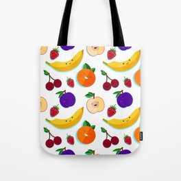 happy fruits and berries Tote Bag