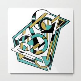 Partridge - Geometric Abstract Digital Design Metal Print