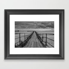 The Pier. Framed Art Print