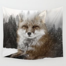 Fox Stare Wall Tapestry